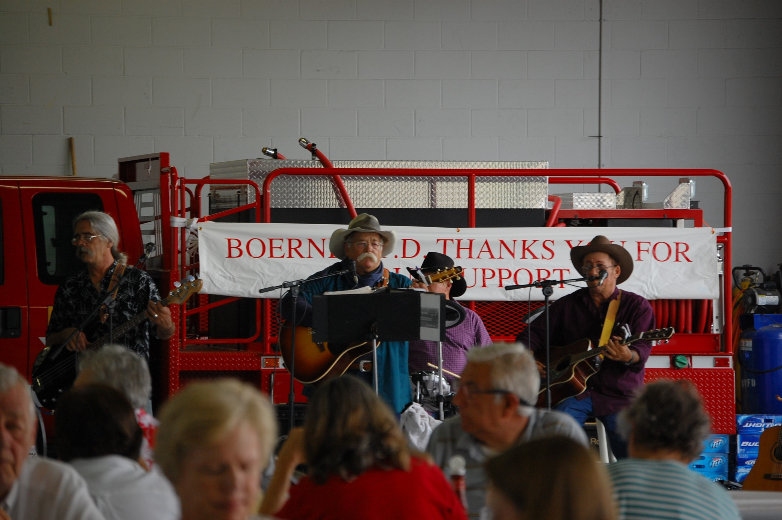 Photo of the True Texas Band at the fundraiser